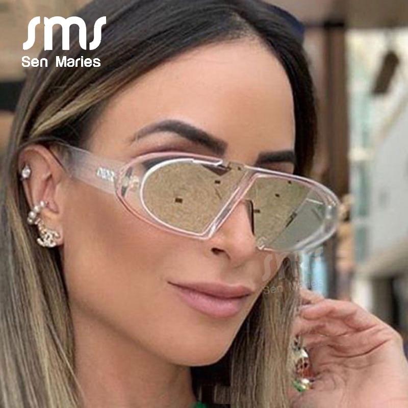 Sen Maries Vintage Women Small Oval Sunglasses Men New Luxury Personality Pink Black Female Eyewear Shades UV400 Oculos Feminino