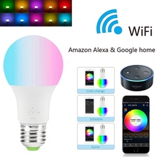 Smart Bulb 4.5W WIFI LED Light Bulb RGB Magic Light Bulbs Lamp Remote Control Compatible with Alexa Google Smart Home wifi led bulb dimmer smart rgbw light bulbs remote control wifi light switch led color changing light bulb works with alexa