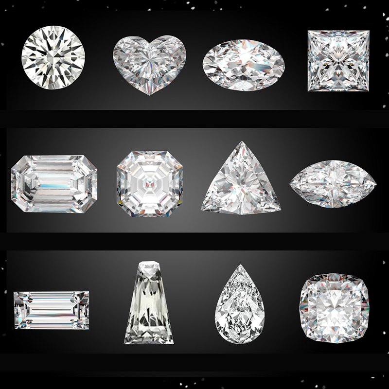 Loose Moissanite 5ct Carat D Color Round Brilliant Excellent Cut Loose Stone VVS1 jewelry Lab diamond ring material