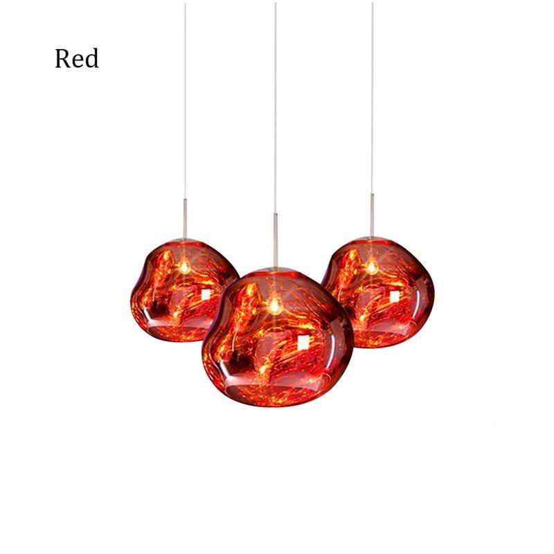 Nordic Glass LED Pendant Lights Lighting Lava Hanging Lamp for Living Room LOFT Pendant Lamp Bedroom Bar Decor Kitchen Fixtures