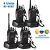 Baofeng Walkie Talkie BF 888S, 5W, 400 470MHz, Radio bidireccional, hf, FM, transmisor, Comunicador Ham CB, Radios BF 888s, 4 Uds.
