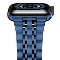 Para Apple watch 6 band se Series 5 4 44mm 40mm pulsera adaptadores actualizados correa de acero inoxidable para iwatch 3 42mm 38mm