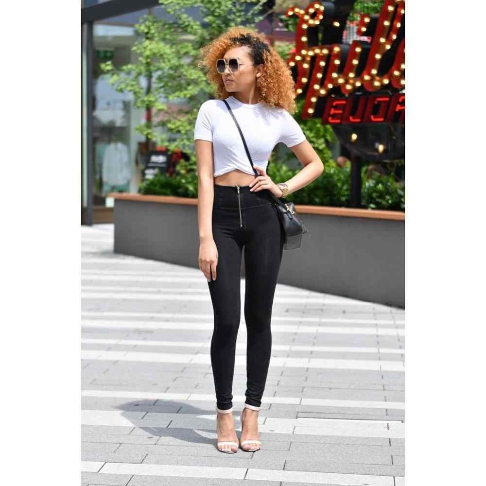 Melody preto cor push up sexy jeans feminino 2019 outono algodão longo denim jeans de cintura alta magro jeans mulher transporte da gota