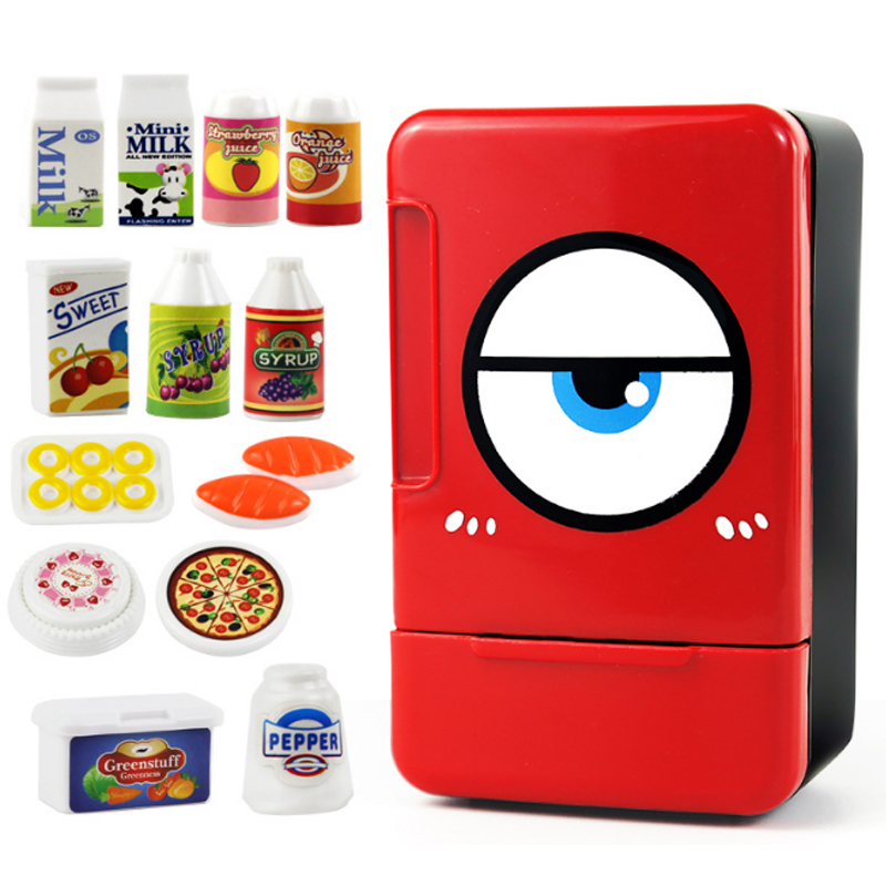 Simulated Kitchen Toys Refrigerator / Washing Machine Fun Kids Pretend Role Play Mini Indoor Game Children Playing House Toy