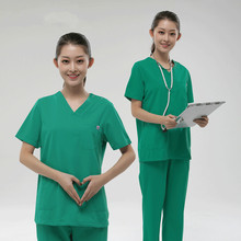 Light green hand-washing clothes for female doctors to wear brush surgical clothing isolation oral hospital overalls