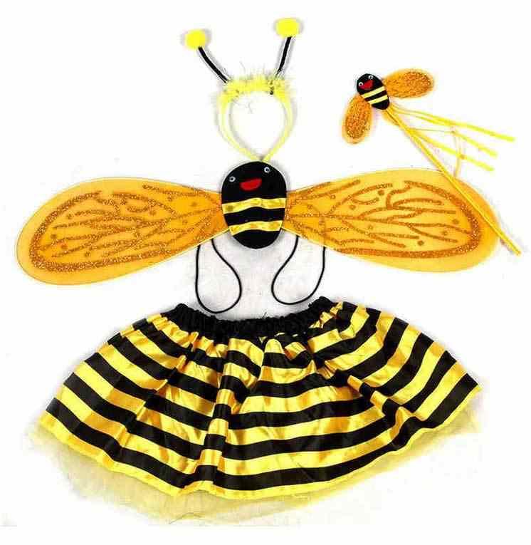 هدايا عيد الطفل 4 قطعة الجدة النحل الخنفساء أجنحة عقال عصا سحرية تنورة تأثيري الأميرة الحيوان ازياء يتوهم اكسسوارات