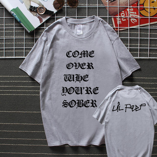 LIL PEEP COME OVER WHEN YOU'RE SOBER TOUR CONCERT T-SHIRT (13 VARIAN)