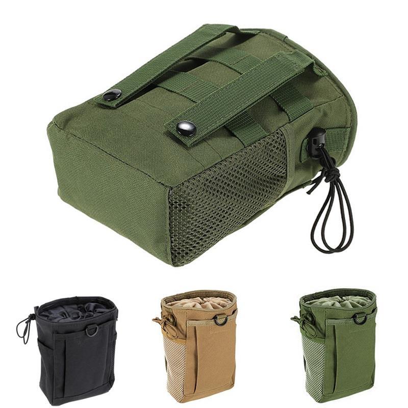 Durable Camping Pocket Cartridge Bag 3 Colors Tactical Outdoors Airsoft DIY Waist Pouch Picnic Drawstring Oxford Cloth Hunting