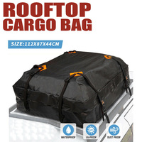 112X87X44cm Waterproof Car Cargo Roof Bag Waterproof Rooftop Luggage Carrier Black Storage Travel Waterproof SUV Van for Cars