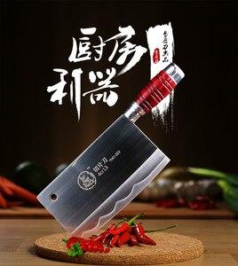 Image 5 - SHUOJI Top Quality Slicing Knife Chinese Handmade Kitchen Chef Knife Razor Sharp Easy cut Meat Fish Vegetable Non slip Handle