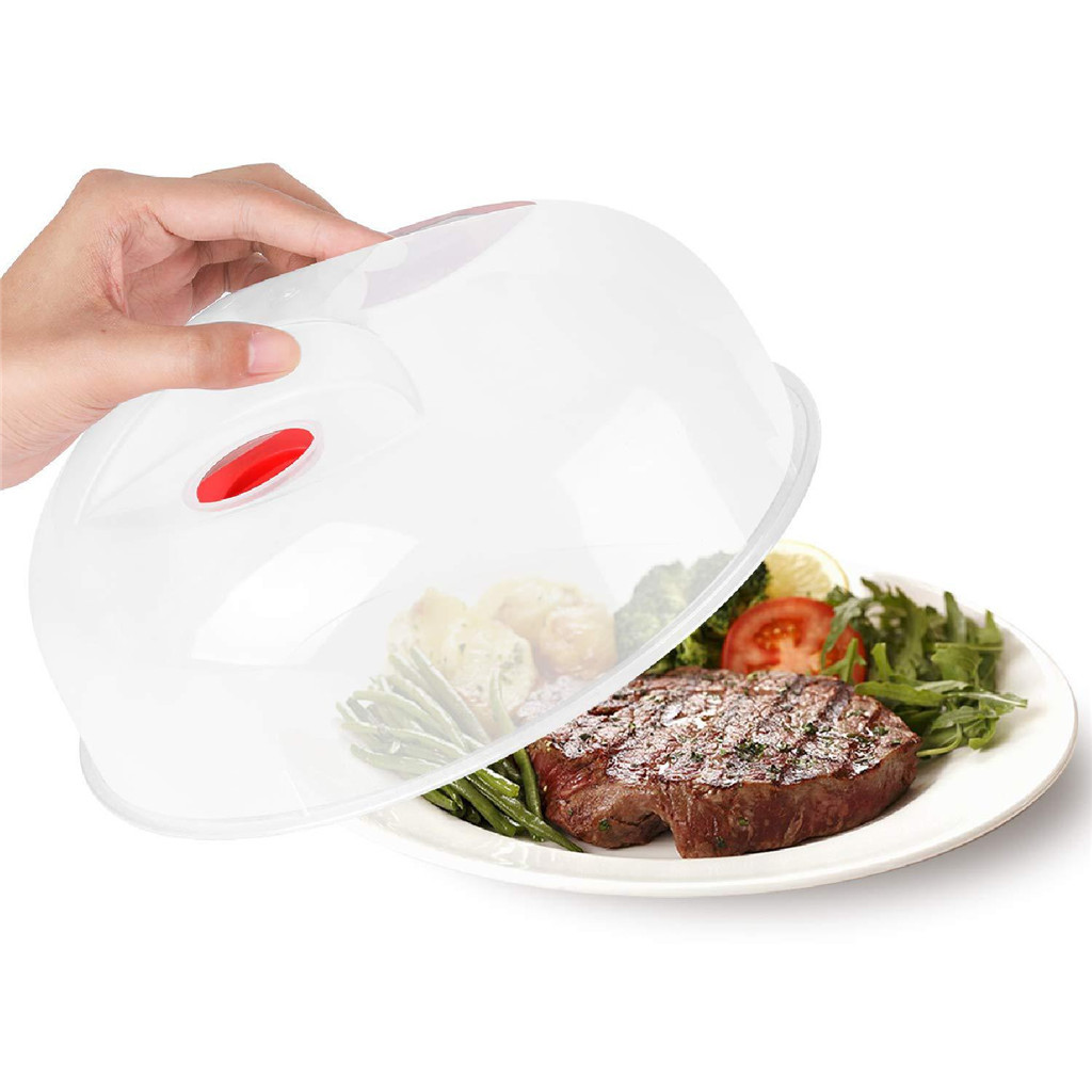microwave oven food cover anti splatter large microwave plate cover easy grip microwave splatter guard lid with steam 1014y20