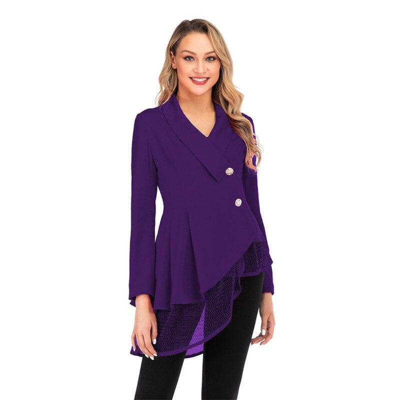 Blazer Women New Fashion Work Office Suit Long Sleeve Women Clothes Bleiser Feminino Solid Color Women Blazer Dress New Coat