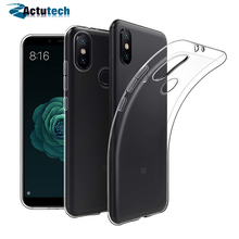цена на Actutech TPU Cover Phone Case For Xiaomi Mi A2 Lite Cases Transparent Back Protector Cover For Xiaomi Mi A2 Redmi 6 Pro Case