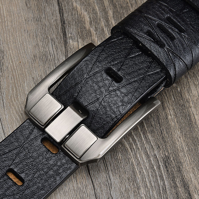 Leather luxury pin buckle belts for men 1