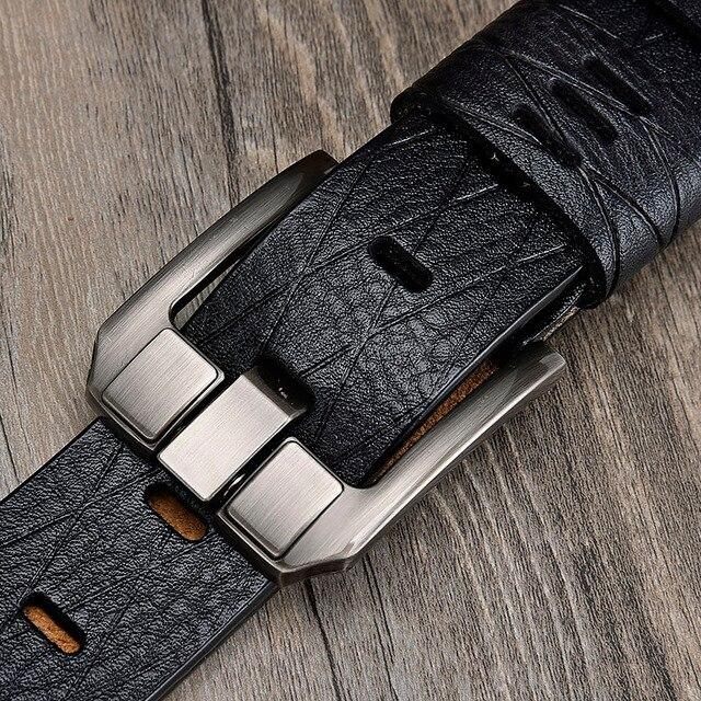 LFMB belt male leather belt men strap male genuine leather luxury pin buckle belts for