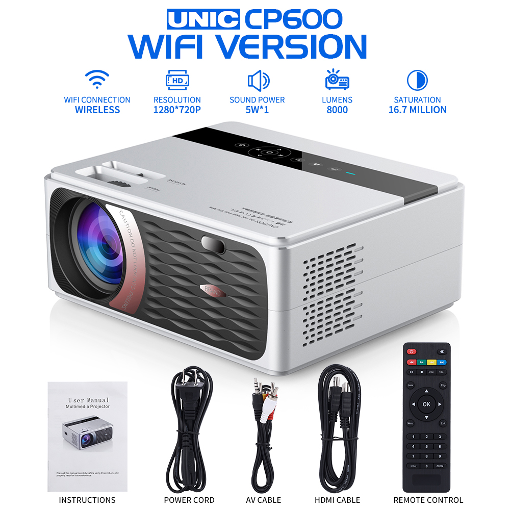 Home Cinema Videoprojecteur HD Home Theater Projector for Movie Video Games PC Xbox PS4 Cellphone 1080P Full HD Multimedia USB VGA HDMI LED Projector HDMI Projector 4000 Lumen