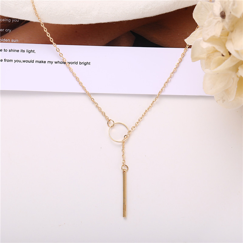 Hot Fashion Casual Chocker Necklace Personality Infinity Cross Pendant Gold Color Choker Necklaces on neck Women Jewelry
