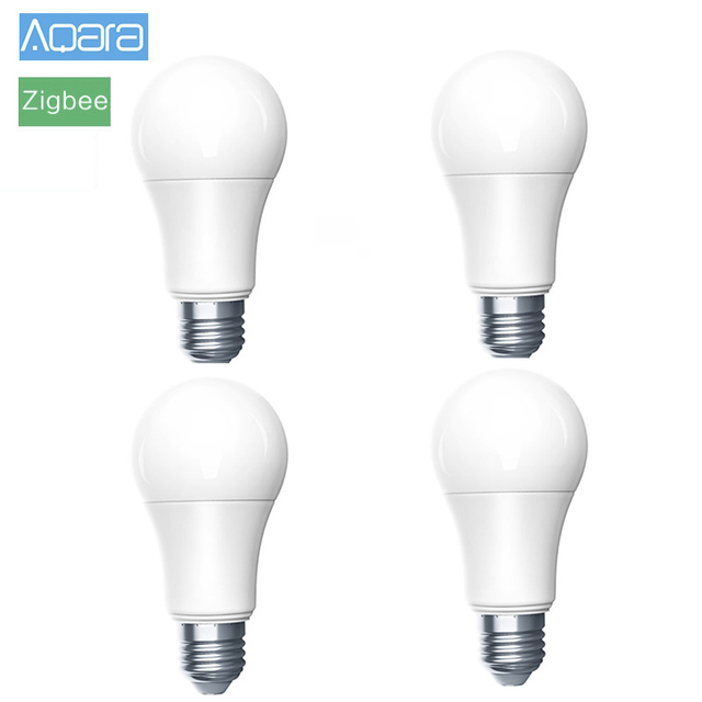 4 قطعة الأصلي Aqara لمبة زيجبي النسخة الذكية عن بعد LED لمبة Xio mi ضوء المصباح ل Mi المنزل APP Homekit بوابة