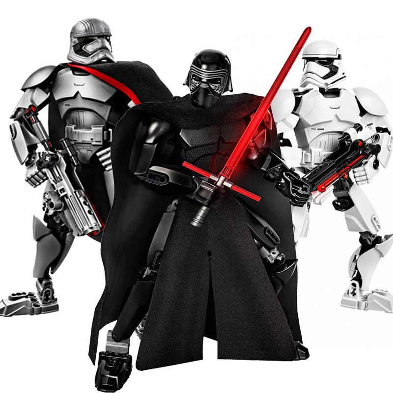 Звездные войны окончательная коллекция Kylo Stormtroopers Phasma Ren Rey модель Вейдера фигурки блоки Строительные кирпичи игрушки для детей