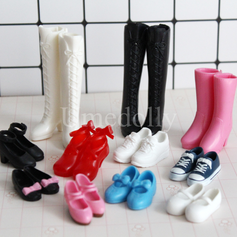 MagiDeal 4 Pair 1//6 Doll Plastic High Heel Shoes for Blythe Licca Dolls