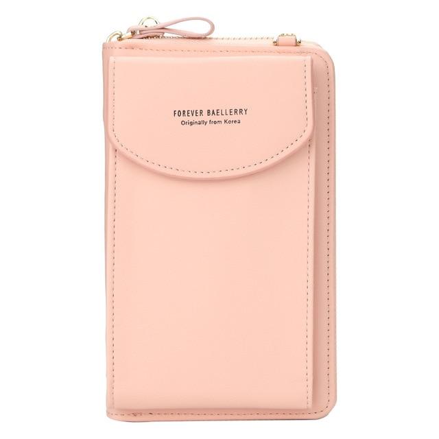 2021 Women Wallet Famous Brand Cell Phone Bags Big Card Holders Handbag Purse Clutch Messenger Shoulder Long Straps Dropshipping 4