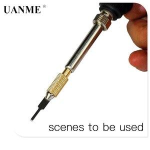 Image 2 - 936 납땜 인두 가열 블레이드 휴대 전화 뒷면 커버 유리 접착제 제거 도구 메인 보드 접착제 지문 ic 수리 도구