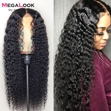 Perruque Deep Wave Lace Front Wig 360 brésilienne, cheveux naturels, sans colle, 30 pouces