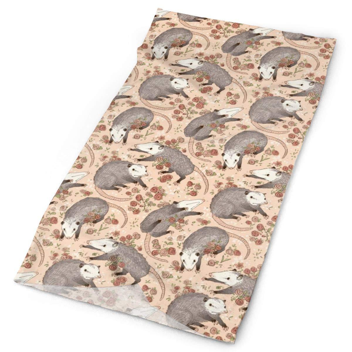 SHINYWEET Befuddled Possums Multifunctional Headwear Yoga Sports Stretchable Seamless Bandana Head Wrap Headband Sweatband