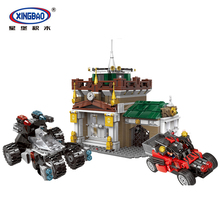 XINGBAO 10003 City Police Series The Museum Robber Set Scenes Building Blocks Police Station With Cars Bricks Educational Toys lepin 36011 creative series the winter village station set genuines 1010pc building blocks bricks educational toys as boy s gift