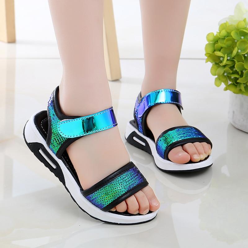 Child Comfortable Sandals 2020 Summer Kids Shoes Infantil Boys Girls Beach Sandals Casual Fashion Soft Flat Shoes EU 27-37