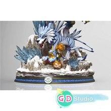 Дигимон Приключения габумон гарурумон были гарурумон смолы модель статуя окрашенные GK