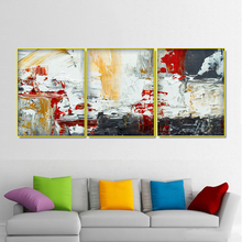 Laeacco 3 Panel Canvas Calligraphy Abstract Painting Watercolor Wall Art Graffiti Pictures Posters Prints Living Room Home Decor