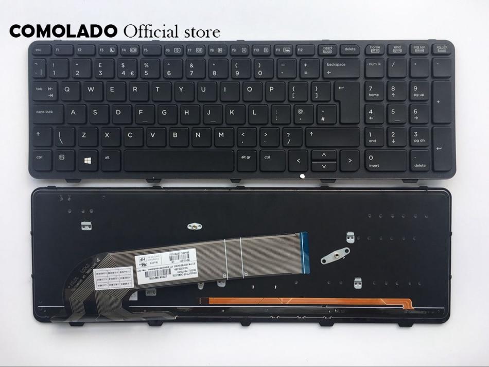 UK keyboard For HP ProBook 450 G0 450 G1 450 G2 455 G1 455 G2 backlit keyboard UK layout