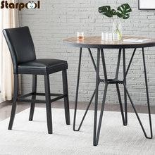 Комплект из 2 предметов черная твердая резина дерево стул с