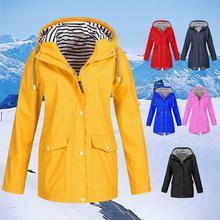 Женская куртка ветронепроницаемое водонепроницаемое пальто с молнией одежда для наружного альпинизма осенью и зимой