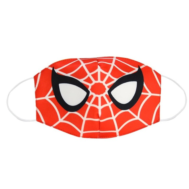 2020 Spiderman Unisex Face Mouth Masks Kids Dust Respirator Washable Reusable Mask Fashion Cotton Non-disposable Mouth Muffle 5