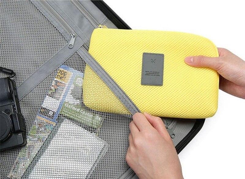 Portable Storage Bag Digital Gadget USB Cable Earphone Pen Travel Bags Cosmetic Makeup Case JHP-Best
