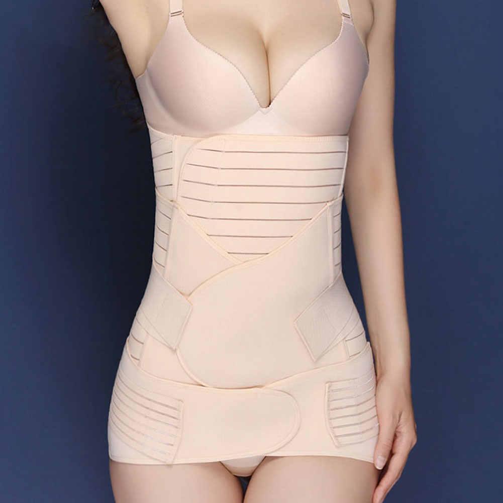 3 في 1 النساء المدرب البطن الحوض ملابس داخلية بعد الولادة حزام مجموعة الحمل حزام التفاف الجسم البطن الفرقة الانتعاش مشد البطن
