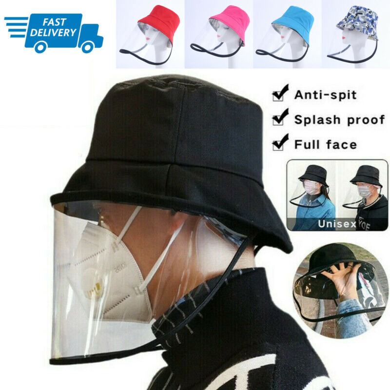 Detachable Protective Fisherman Hat Anti-saliva Hat Women UV Protection Mask Hat Dustproof Face Shield