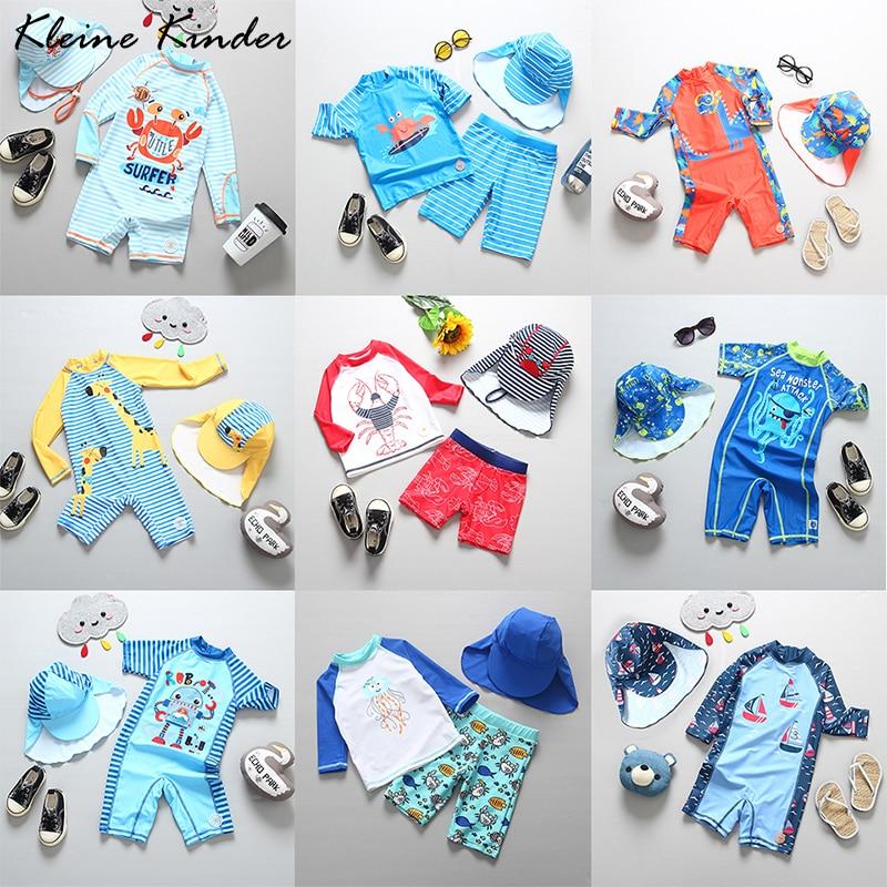 Детские купальные костюмы, купальник с защитой от УФ-лучей, купальник с длинным рукавом для маленьких мальчиков, детский купальный костюм, ...
