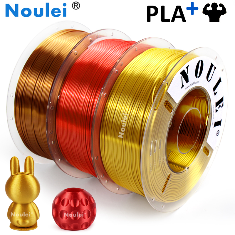 Noulei Shiny PLA 3D Printing Filament 1kg 1.75mm Silky Material for 3D Printer