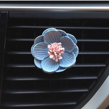 Odświeżacz do samochodu kwiat oczyszczacz powietrza klip dyfuzor samochodowy perfumy wylot powietrza dekoracja samochodu klipsy do zapachów tanie i dobre opinie DAYLYRIC CN (pochodzenie) Car Air Freshener 3 5cm Flowers 2 1cm
