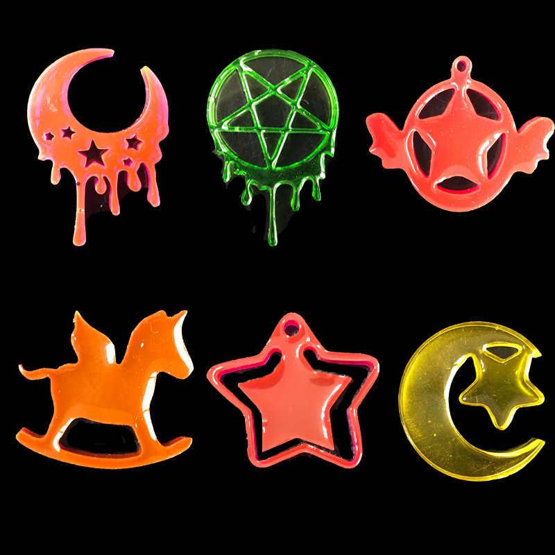 11 أنماط القمر ستار الحصان محظوظ ليف السائل راتينج السليكون Expoxy قالب مجوهرات Uv لتقوم بها بنفسك أدوات المجوهرات لصنع قلادة قلادة