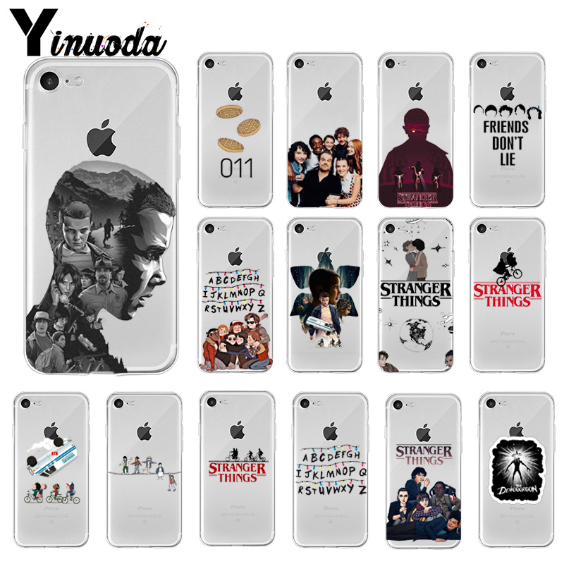 Yinuoda <font><b>Stranger</b></font> <font><b>Things</b></font> Coque Shell <font><b>Phone</b></font> <font><b>Case</b></font> for <font><b>iPhone</b></font> 8 7 6 6S Plus 5 5S SE <font><b>XR</b></font> X XS MAX Coque Shell image