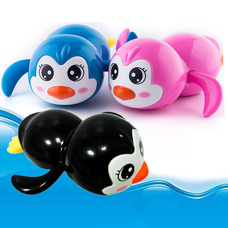 1PCS Cute Cartoon Animal Tortoise Classic Baby Water Toy Infant Swim Penguin Wound-up Chain Clockwork Kids Beach Bath Toys