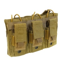 1000D Nylon Tactical MOLLE Triple Open Top Magazine Pouch FAST AK AR M4 FAMAS Mag Pouch Military Paintball Equipment New