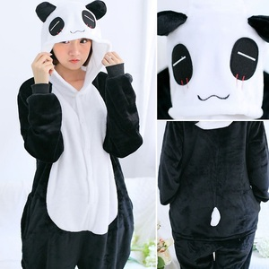 Image 5 - Flannelสัตว์Unicornชุดนอนชุดผู้หญิงผู้ชายKigurumiผู้ใหญ่Onesies Unicorn Panda Stitch CosplayฤดูหนาวWarm Hoodedชุดนอน