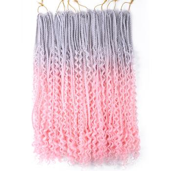 Saisity Ombre Synthetic with Split Ends Goddess Box Braids Crochet Hair Extensions With End Bohemian Braiding - discount item  60% OFF Synthetic Hair