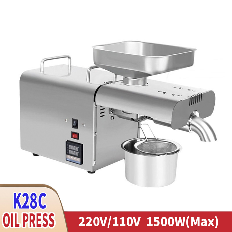 220V Stainless Steel Food Grade Oil Press Maximum Power 1500W Suitable For Sunflower Seed Rapeseed Tea Seed Sesame Peanut Etc