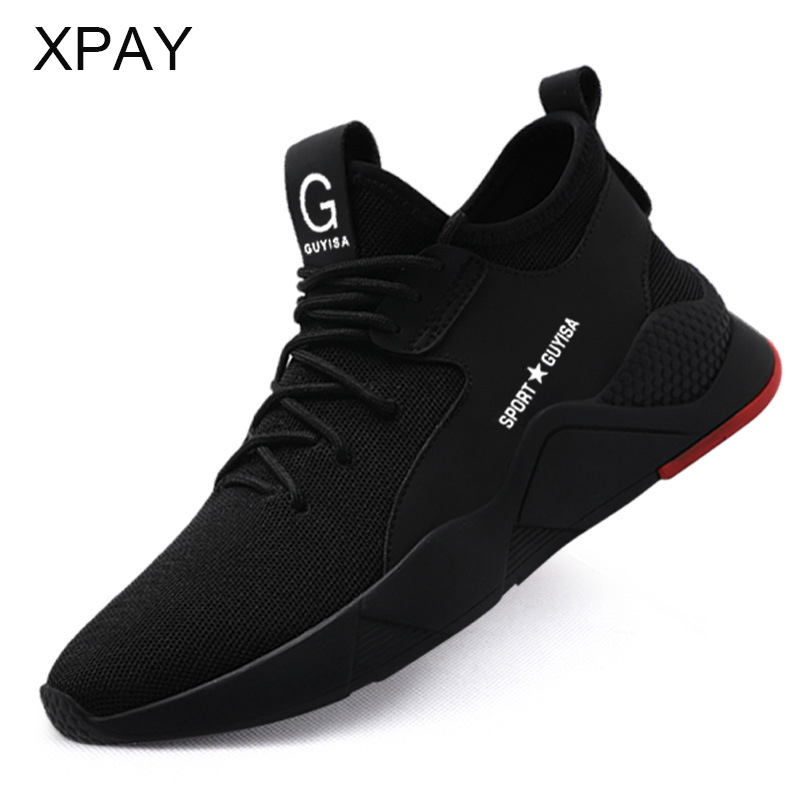 Fashion Safety Shoes Men Work Shoes Security  Breathable Casual Suitable For Work And Life Round Toes Work Safe Ankle.